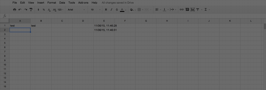 Add a Dynamic Timestamp to Google Drive Spreadsheets